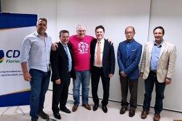 Conselho Deliberativo recebe Promotor Daniel Paladino e Delegado Wanderley Redondo