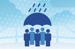 Doações para desabrigados por causa das fortes chuvas