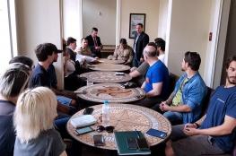 Comerciantes do Centro Histórico se reuniram para discutir o funcionamento dos estabelecimentos