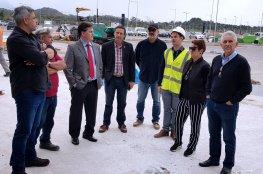 Comitiva faz última vistoria nas obras do acesso ao novo Aeroporto Internacional Hercílio Luz